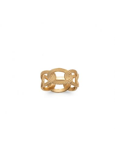 bague or maille tresse