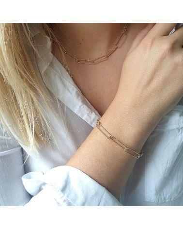 bracelet or maille trombone