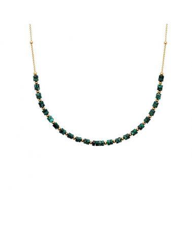 collier or jaspe vert