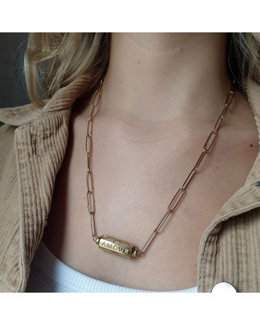 collier cylindre Amour Mile mila