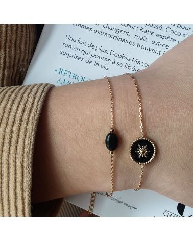 bracelet email noir