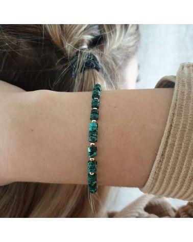 bracelet or jaspe vert