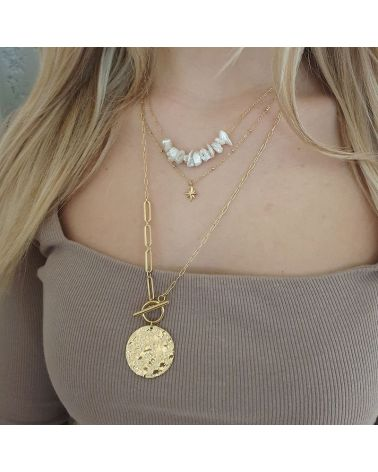 collier multirang nacre
