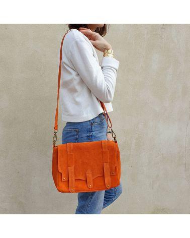 sac daim messenger orange