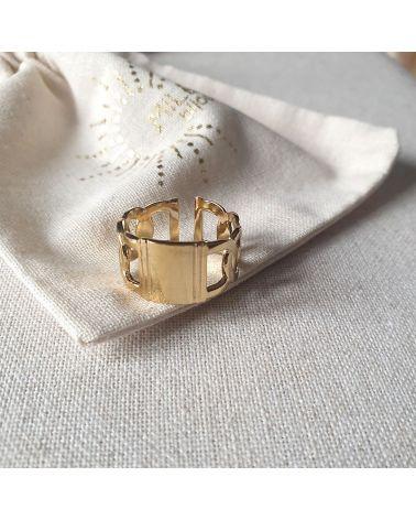 bague anneau doré