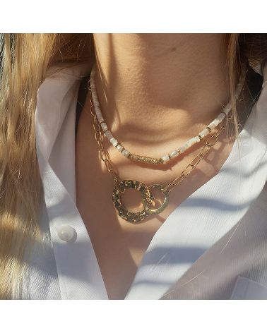 collier double anneau mile mile