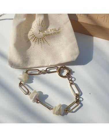 bracelet maillon nacre mile mila