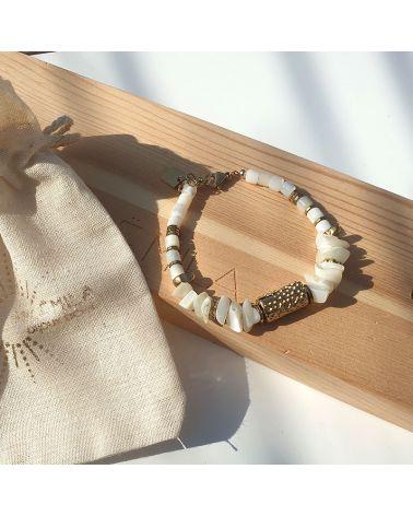 bracelet nacre et cylindre