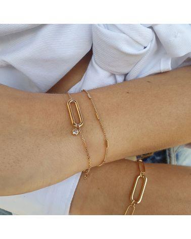 bracelet anneau zirconium