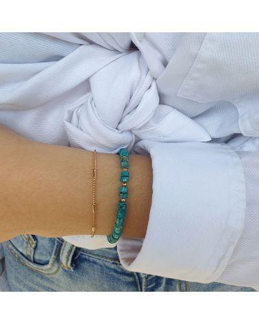 bracelet jaspe bleu