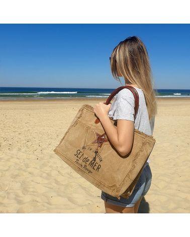 sac de plage sel de mer