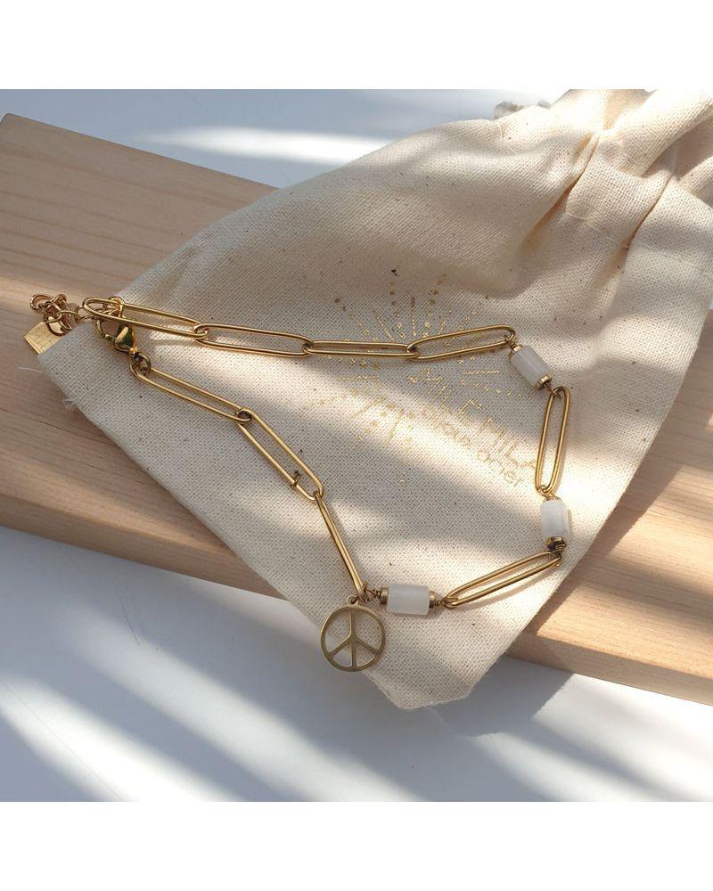 bracelet de cheville peace love