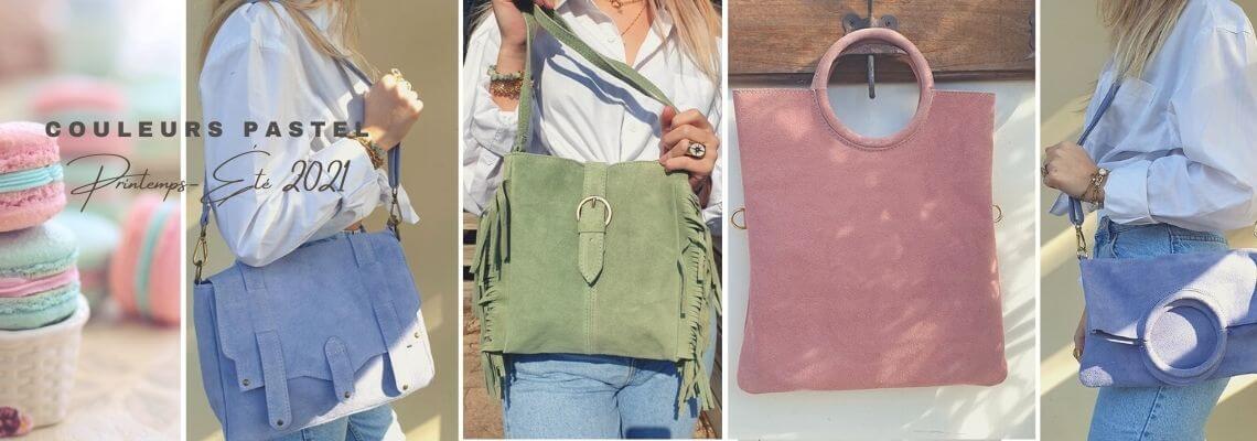 Bijoux sacs accessoires de mode couleur nuances de rose