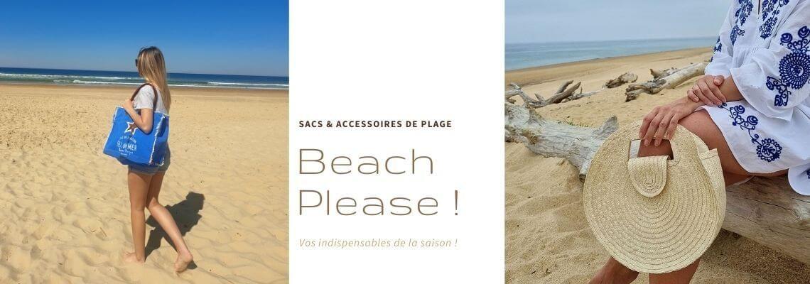 Sacs pochettes cabas de plage beach please