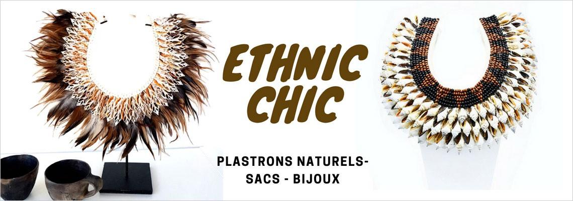 Style ethnique chic bijoux plastrons accessoires sacs d'inspiration ethnique