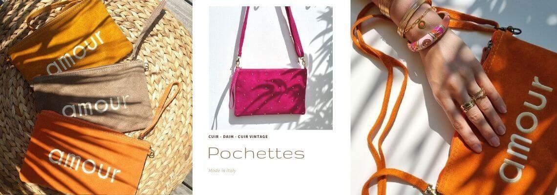 Pochettes en Cuir, Toile ou Fil Lurex | Zosha Collection
