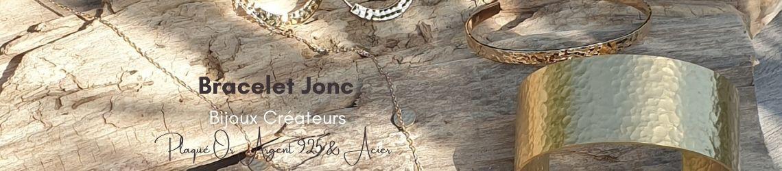 Bracelet Jonc - Plaqué Or - Argent - Acier - Bijoux Créateurs | Zosha Collection