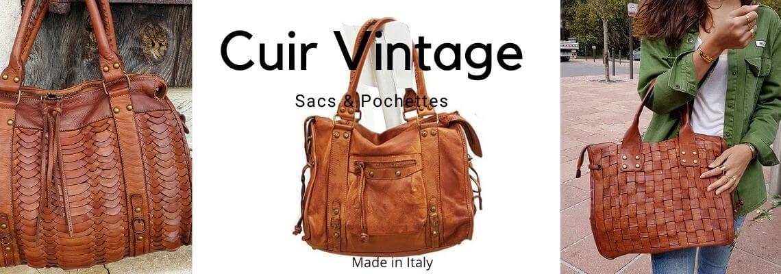 Sacs en Cuir Vintage Italien pour femme - Cuir Souple - Zosha ...