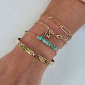 Jeu de mailles & Jaspe Bleu 🦋 Collection Plaqué Or  #bracelets #braceletsoftheday #braceletjonc #padlock #jaspe #bijouxcréateur #bijouaddict #18ktgold #18carats #jewelleryonline #hossegor #zoshacollection