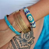 Blue Mood 🦋 #bracelets #milëmila #milemilaparis #bracelet #braceletjonc #email #bluemood #tattoo #anaischabane #losangeles #toulouse #zoshacollection