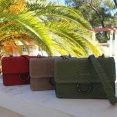 Nos modèles Sac MAYA #sacs #sacsfemme #sacbandouliere #handbag #instacool #instafashion #madeinitaly #sacreptile #hossegor #zoshacollection