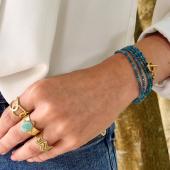 Bracelet Multi-Tours pierre Apatite 💙 Peut aussi être porté en collier  #bracelet #braceletpierre #apatite #apatitejewelry #jewelrystone #bijouxaddict #bijoucreateur #bohostyle #bohemechic #bohojewelry #hossegor #zoshacollection