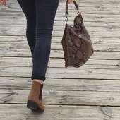 Hobo bag version Python ! #hobo  #hobobag #sac #sacpython #saccuir #sacs #oodt #saccuir #fashionbag #wildfashion #casual #casual #taupe #pythonbag #femmestyle #hossegor #zoshacollection
