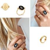 Duo de bagues 💫! L intemporel anneau au motif feuille & la jolie bague au porté recto verso Email et Plaqué Or !  #plaqueor #bagues # bague #ring #goldplated #gold #reversible #bijouor #fashionjewelry #frenchdesigner #18ktgold