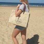 GO ! 🌊😎 #cabasplage #sacdeplage #canvasbag #toilerecyclée #vintagebag #beachstyle #beachbag #beachbags #plage🌊 #hossegor #seignosse #zoshacollection