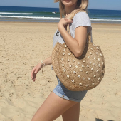 Come as you are ! 🌊#panier #panieraddict #panierjute #sac #sacrond #coquillages #hossegor #zoshacollection