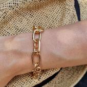 Bracelet gros maillons Or 18 Kt #bracelet #braceletor #or18kt #grosmaillon #chaine #bijouor #gold #18ktgold #bijoucreateur #bijoufemme #bijoudujour #tendance