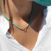 Collier Surfeur Heishi Turquoise  #collier #colliersurfeur #collierpierre #collierturquoise #heishi #perlesheishi #musthave #mode #bijouxaddict #bijoupierre #hossegor #landes #zoshacollection